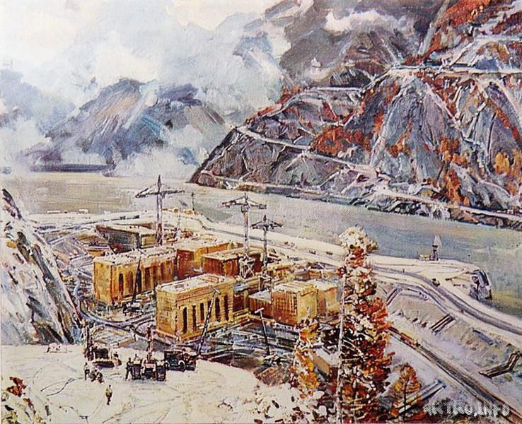 Ряннель Т.В. Котлован. Строительство Саяно-Шушенской ГЭС. 1972