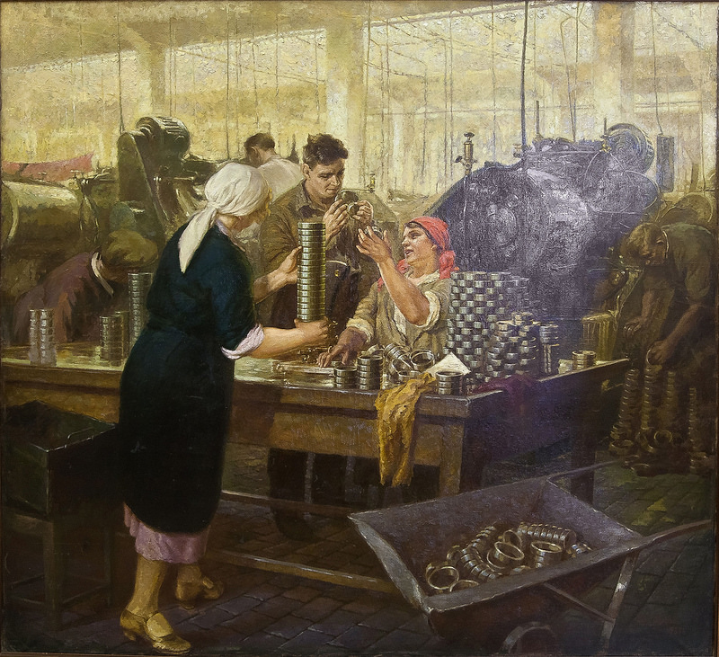 «Завод «Шарикоподшипник». 1936-1937 гг., гор. Москва. Орлова Вера Александровна (1904-1993).