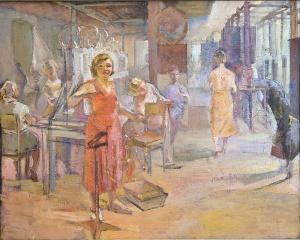 Комсомолки (электровакуумного) завода «Светлана» (Ленинград). 1937. Ситтаро Алексей Гумбертович.