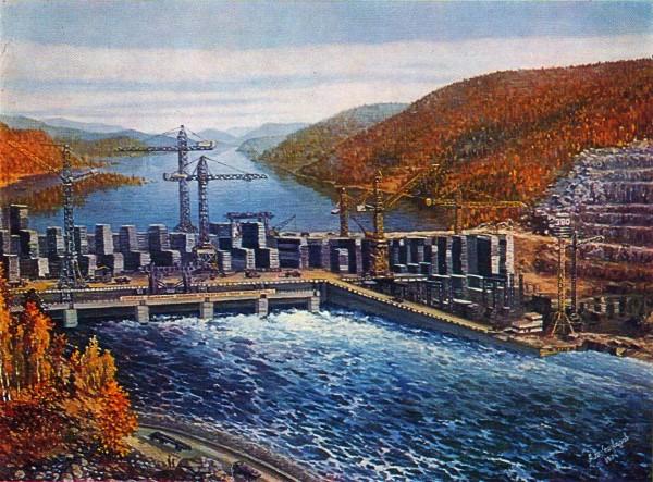 Д. Я. Александров. (Род 1921) Зейская ГЭС 1974