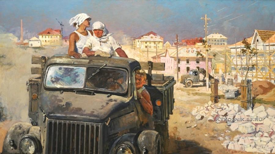 Пушнин Александр Тихонович (1921-1991) «В районе новостроек» 1960