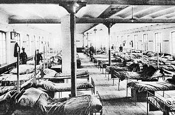 Рис. 37. Внутренний вид казармы для рабочих фабрик
