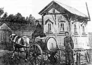 Рис.1. Водовозы. Одна из первых московских фотографий 19-го века.