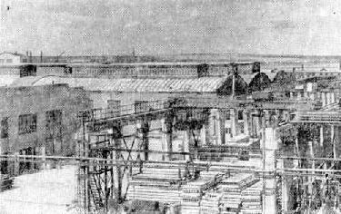 Рис. 1. База по производству железобетонных изделий. Ижевск. 1958 г.