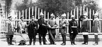 Рис. 1. Добровольная пожарная команда. Фотография 1890-х гг.