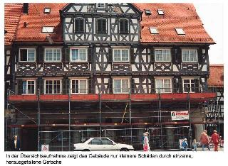 Рис.2 Мансардные окна в реконструированном фахверковом доме исторического центра в Мюнхене