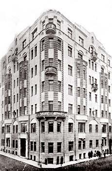 Рис. 3. Доходный дом Шугаева С.Е. в Ржевском переулке в Москве Архитектор Волокитин В.Н. 1910-е гг.