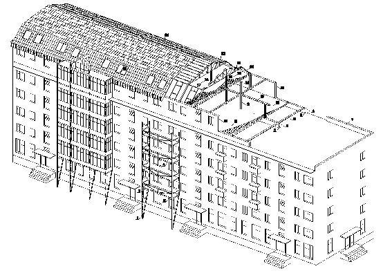 Рис. 5. Венгерское предложение реабилитации жилья серии 1-335 с неполным каркасом