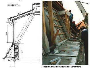 Рис. 5. Изготовление вертикальных окон мансард в Германии.