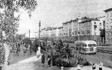 Рис. 7. Нижний Тагил. Улица Ленина. 1961 г.