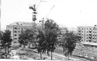 Рис. 8. Застройка микрорайона в Ижевске. 1960 г.
