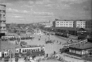 Рис. 10. Москва. Трамвайное кольцо. 1934 г.