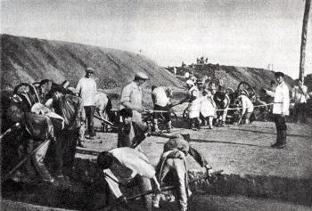 Рис. 13. Строительство железной дороги. Фото 1890-х годов.