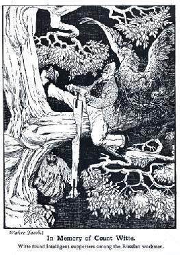 Рис. 18. Карикатура на Витте в зарубежной печати по мотивам русских карикатур