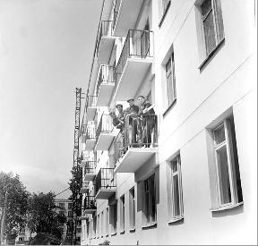 Рис. 22. Известная в 60-х монтажная бригада Дюкарева. 1962 г.