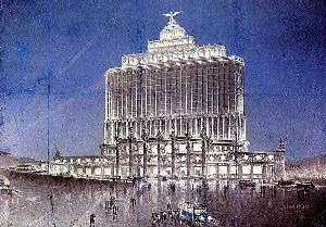 Рис. 32. Здание «Аэрофлота». Архитектор Д. Чечулин. 1934 г.