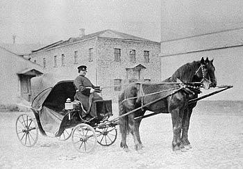 Рис. 42. Экипаж Коншиных у дома в Серпухове. 1895 г.